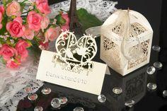 10*Laser CutLove Birds wedding Favor Boxes&10*Birds Table Decor Place Name Card | eBay