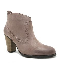 Taupe Nixon Bootie by Qupid