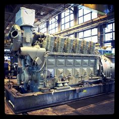 A diesel Electric locomotive engine with a turbocharger at GE Transportation in Erie, PA....4400 horsepower