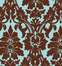 love this color combo!  why do i love damask so much?