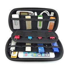 Agile-Shop Multifunction Big Capability USB Flash Hard Drives Case Bag for U Disk USB Drive SD Memory Card with Credit Card Slot Holder, Black - Computer and Accessories Lists Products Drive Storage, Car Storage, Mobile Storage, Media Storage, Storage Ideas, Usb Drive, Usb Flash Drive, Car Seat, Organizers