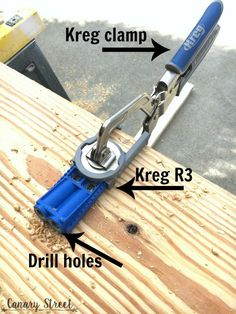 Build your own shelf with free plans and step by step instructions using the Kreg pocket hole jig. Woodworking Patterns, Woodworking Videos, Fine Woodworking, Woodworking Bench, Build Your Own Shelves, Kreg Pocket Hole Jig, Craft Room Tables, Wood Projects For Beginners, Rustic Shelves