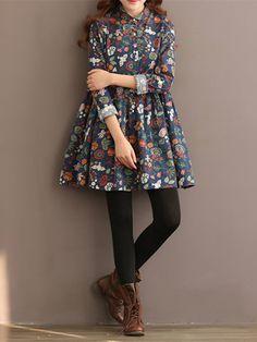 Floral dress (blue, AU size 12)