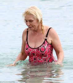 Not retiring just yet: Proving age need be no barrier to looking good on the beach, Debbie...
