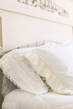Shabby Chic Decor and Bedding Ideas - DIY Lace Pillowcase - Rustic and Romantic Vintage Bedroom, Living Room and Kitchen Country Cottage Furniture and Home Decor Ideas. Step by Step Tutorials and Instructions http://diyjoy.com/diy-shabby-chic-decor-bedding