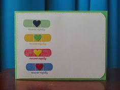 Stampinggranny - Ankie: Een serie beterschapskaartjes.