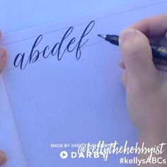 Lettering - Practice calligraphy by writing abc's darbysmart diy diyprojects diyideas diycrafts easydiy artsandcrafts calligraphy brushpens brushlettering Calligraphy Practice, How To Write Calligraphy, Calligraphy Handwriting, Calligraphy Alphabet, Modern Calligraphy, Calligraphy Writing, Easy Caligraphy, Penmanship Practice, Calligraphy Video