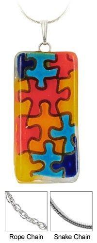Autism Awareness Necklace... I LOVE SOMEONE WITH AUTISM!