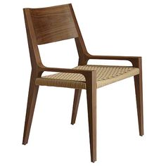 McGuire Furniture: Seido Walnut Arm Chair: No. M-413