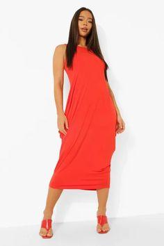 Dresses   Womens Dresses Online   boohoo UK Tangerine Dress, Orange Dress, Maxis, Strappy Maxi Dress, Kimono, Boohoo Dresses, Maxi Robes, Bodycon Fashion, Dress Collection