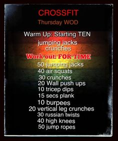 Thursday Crossfit Wod