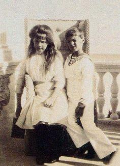 Grand Duchess Anastasia Romanov and Tsarevitch Alexei Romanov
