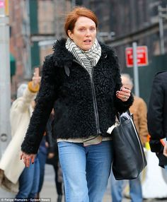 Au Naturale: The redheaded beauty opted to go make-up free for her pampering session...