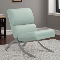Rialto Aqua Bonded Leather Chair, Blue