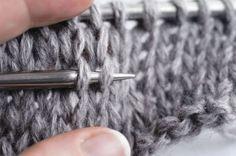 Comment défaire facilement des rangs de tricot. Génial!