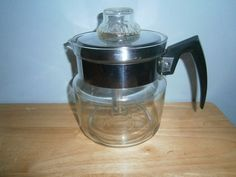"Vintage Pyrex Flameware 6 Cup Coffee Pot Percolator Complete  7756-B  ""RARE"" #Pyrex"