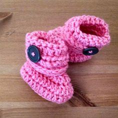 Baby Booties Crochet Baby Booties Baby por CandacesCozyCreation