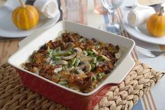 Side Dish Recipe: Green Bean Casserole with Mushrooms And Caramelized Onions