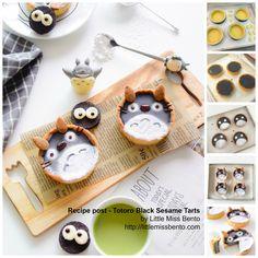 Recipe Totoro Tarts - grey little totoros! And sprites!