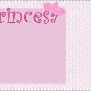 Convite Moldura e Cartão Coroa de Princesa Provençal: