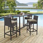 Modway Convene Wicker 5 Piece Rectangular Patio Pub Set - No matter what the flow of your backyard party looks like at the beginning of the evening, everyone will eventually convene around the Modway Convene...