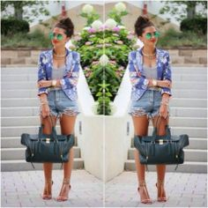 How to Chic: FLORAL BLAZER