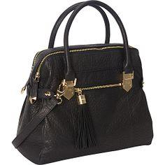Perlina Katya Satchel Black - Perlina Leather Handbags