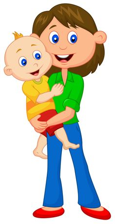 Mother & Child Clip Art