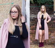 Get this look: http://lb.nu/look/8855151  More looks by Emma Reay: http://lb.nu/collagemepretty  Items in this look:  Wearall Dress, Wearall Duster Jacket   #chic #classic #formal #dusterjacket #lbd #dress #ankleboots #pinkcoat #belt