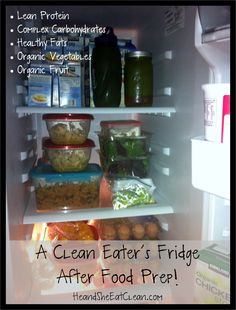 He and She Eat Clean: A Clean Eater's Fridge After Food Prep!