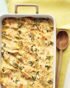Creamy Shells with #Tuna and Spinach #COS