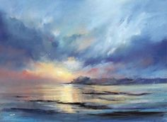 Reflexionen – Pastell über Morecambe Bay – Katie Kelley – Join in the world of pin Chalk Pastel Art, Soft Pastel Art, Pastel Drawing, Chalk Pastels, Sky Painting, Seascape Paintings, Watercolor Paintings, Pastel Paintings, Landscape Drawings