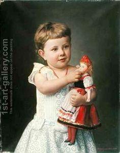 The Artist's Granddaughter Olga Graupenstein. Friederich Wilhelm Graupenstein