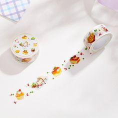 1 Pcs Diy Japanese Paper Masking Decorative Adhesive Tapes Sweet Cake Washi Tape School Supplies Size 20mm*10m #Affiliate
