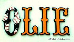 Baltimore Orioles Painted Wall Letters, Orioles Baseball Nursery, Orioles Baseball Baby Shower, Orioles Baseball Baby Gifts