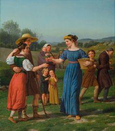 "Christoffer Wilhelm Eckersberg - ""The Maiden from Afar"" From the poem by Schiller. jpg (2028×2311)"