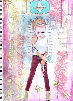 Holly Loves Art: Visual Journaling Makes Me Happy!