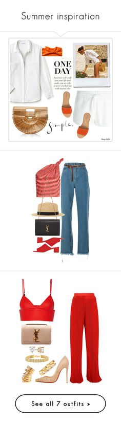 """""""Summer inspiration"""" by ysan ❤ liked on Polyvore featuring Calvin Klein Jeans, Lacoste, Cult Gaia, Hinge, 60secondstyle, outdoorconcerts, Chloé, Rosie Assoulin, Mansur Gavriel and MANGO MAN"""