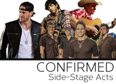 You know you spend most of your time in-between acts at the bar anyway, so you might as well get a good show in while you're at it! We're happy to announce that these 4 acts are all confirmed to play on the side-stages at Country Jam 2014: Chase Rice, Chris Janson, Parmalee, and TIM SIGLER!  Can't wait for July!! #countryjam #summertime