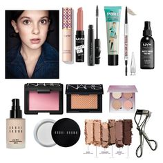 """""""Millie """" by stranger-things-fan ❤ liked on Polyvore featuring beauty, Urban Decay, MAC Cosmetics, Bobbi Brown Cosmetics, Benefit, NYX, NARS Cosmetics and Anastasia Beverly Hills"""