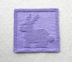 EASTER Bunny Baby Wash Cloth BUNNY RABBIT Knit by AuntSusansCloset, $6.50