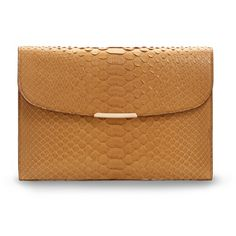 Asprey Regent Envelope Clutch, Saffron Python ($3,845) ❤ liked on Polyvore