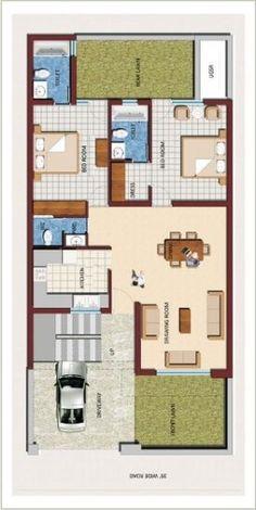 Inspiring Ideas 5 Duplex House Plans For 30x50 Site East Facing My ...