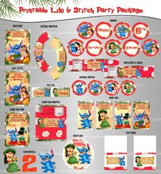 DIY Lilo and Stitch Banner, Lilo and Stitch Party Bundle, Lilo & Stitch Birthday
