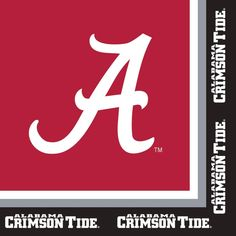 Club Pack of 240 Ncaa University of Alabama Premium 2-Ply Disposable Party Lunch Napkins 6.5, Red