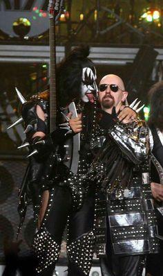 Gene Simmons & Rob Halford. Awesomeness.