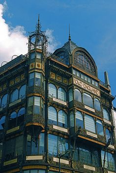 """Art Nouveau"" Ode to Music ~ Musical Instruments Museum ~ Brussels, Belgium.  Photo: Vainsang, via Flickr"