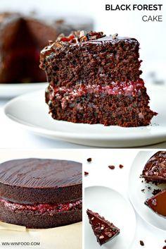 Black Forest Cake    #vegan #wholegrain #sugarfree option