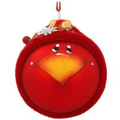 """Charmingly infused with the home-spun artistry of Pam Chatley, this adorable keepsake depicts a whimsically painted cardinal all bundled up in a red knit hat decorated with festive pine sprigs and dazzling snowflakes. Proudly produced in the USA, our 3¼"""" tall Sockhead™ glass cardinal ornament comes ready to hang with a red ribbon and is sure to fly with the Pam Chatley collector or bird lover on your Christmas list!Bronner #1173551."""