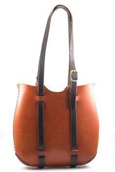 leather tote FREE SHIPPING leather purse. tote bag in cherry wood red leather. in stock.
